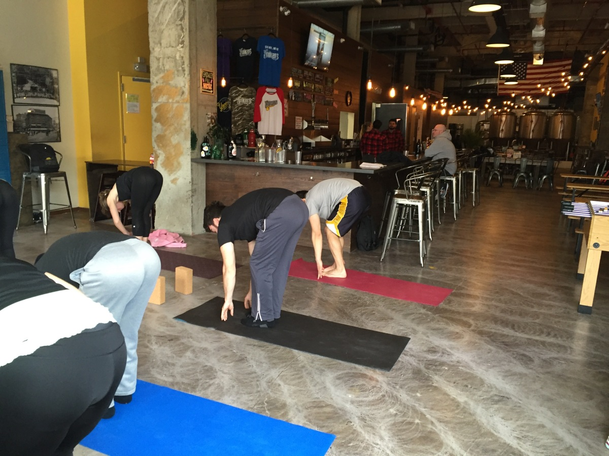 It's a Stretch: New Yorkers Mixing Beer andYoga
